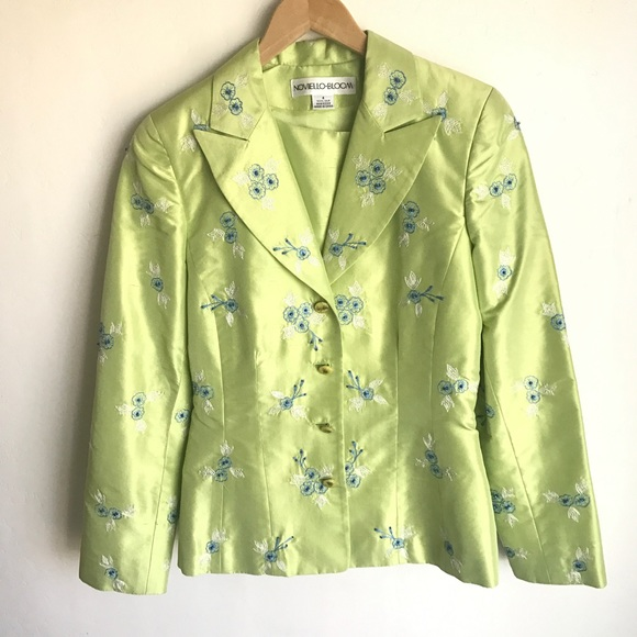 noviello-bloom Jackets & Blazers - Noveillo-Bloom Embroidered Jacket Shell Size 4